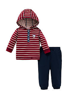 Little Me 2-Piece Hooded Top And Jogger Pant Set