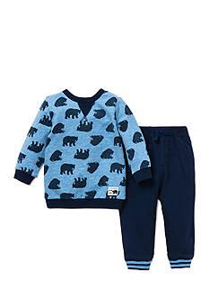 Little Me 2-Piece Bear Print Top And Jogger Pant Set