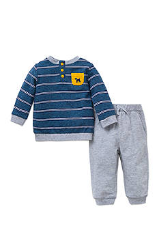 Little Me 2-Piece Dog Print Top And Jogger Set