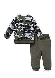 Little Me 2-Piece Camouflage Print Top And Jogger Pant Set