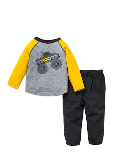 Little Me 2-Piece Monster Truck Shirt And Pant Set