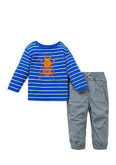 Little Me 2-Piece Beetle Print Shirt And Pant Set
