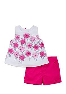 Little Me 2-Piece Floral Shirt and Shorts Set