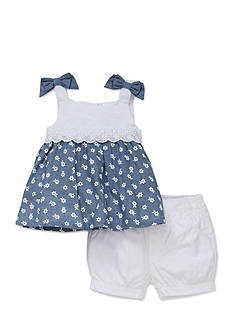Little Me 2-Piece Floral Print Shirt and Shorts Set