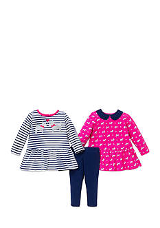 Little Me 3-Piece Dog Print Tunic And Legging Set