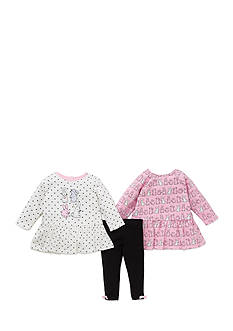 Little Me 3-Piece Bunny Tunic And Legging Set
