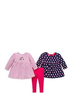 Little Me 3-Piece Owl Print Tunic And Legging Set
