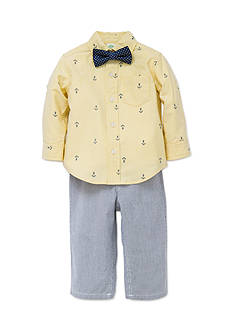 Little Me 3-Piece Anchor Shirt, Bow Tie, and Pants Set