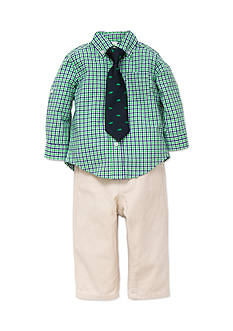 Little Me 3-Piece Dinosaur Tie, Shirt and Pants Set