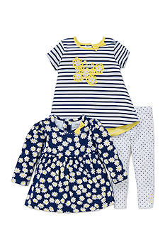Little Me 3-Piece Daisy Top And Leggings Set