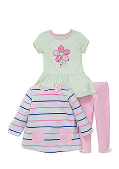 Little Me 3-Piece Top And Leggings Set