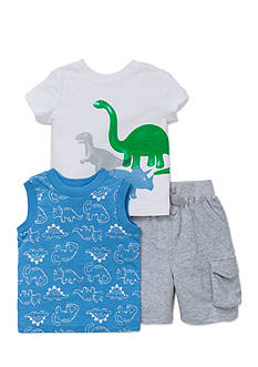Little Me 3-Piece Dinosaur Shirts and Short Set