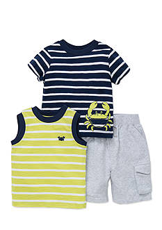 Little Me 3-Piece Crab Shirts and Short Set
