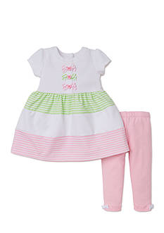 Little Me 2-Piece Dress and Leggings Set