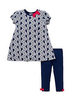 Little Me 2-Piece Daisy Dress And Legging Set