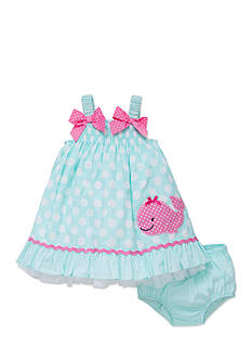 Little Me 2-Piece Whale Dress and Bloomer Set