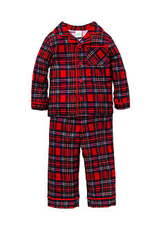 Little Me Red Plaid 2-Piece Polyester Pajama Set