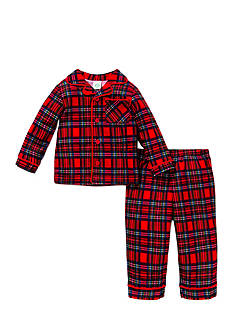 Little Me Plaid 2-Piece Pajama Set Toddler Boys