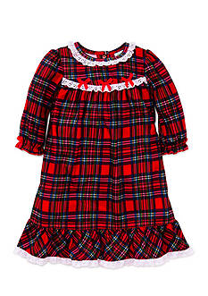 Little Me Plaid Nightgown Toddler Girls