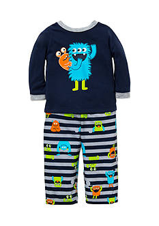 Little Me 2-Piece Monster Print Pajama Set