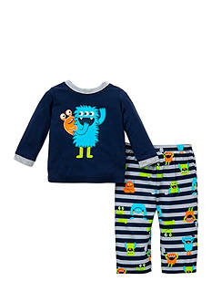 Little Me 2-Piece Monster Pajama Set Toddler Boys