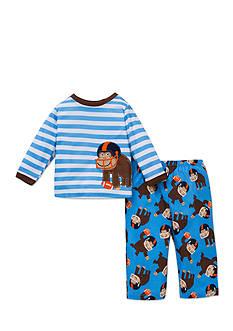 Little Me 2-Piece Football Monkey Print Pajama Set