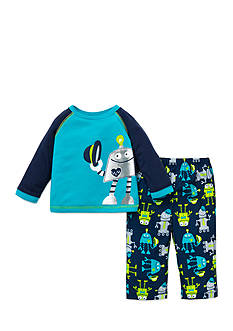 Little Me 2-Piece Robot Print Pajama Set