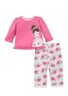 Little Me 2-Piece Princess Print Pajama Set