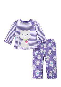 Little Me 2-Piece Kitten Pajama Set Toddler Girls