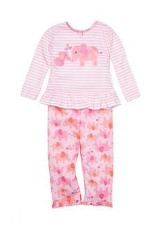 Little Me 2-Piece Elephant Pajama Set Toddler Girls