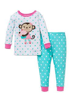 Little Me 2-Piece Monkey Pajama Set Toddler Girls