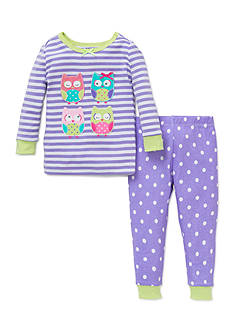 Little Me 2-Piece Owl Pajama Set Toddler Girls