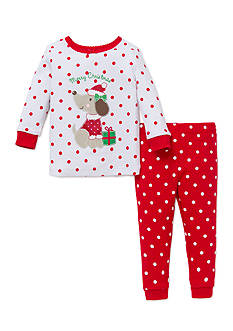 Little Me 2-Piece Puppy Pajama Set Toddler Girls