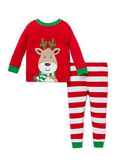 Little Me Reindeer 2-Piece Pajama Set Toddler Boys