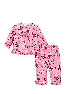 Little Me Santa 2-Piece Pajama Set Toddler Girls