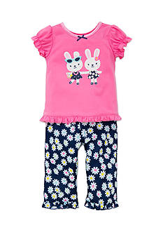 Little Me Bunny 2-Piece Pajama Set Toddler Girls
