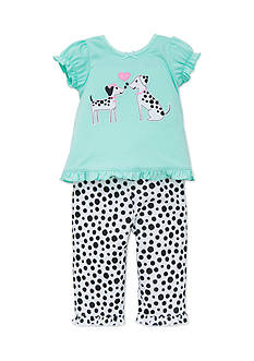 Little Me Dalmation Dot 2-Piece Pajama Set Toddler Girls