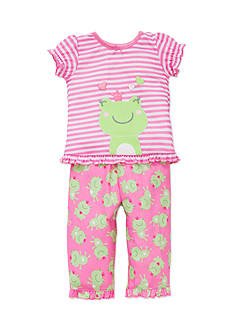 Little Me Frog Pajamas 2-Piece Set Toddler Girls