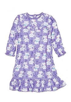 Little Me Kitten Gown Toddler Girls