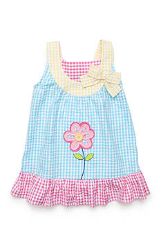 Nursery Rhyme Play™ 2-Piece Gingham Plaid Dress and Bloomer Set