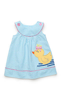 Nursery Rhyme Play™ 2-Piece Gingham Plaid Duck Dress and Bloomer Set