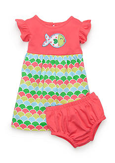 Nursery Rhyme 2-Piece Fish Novelty Dress and Bloomer