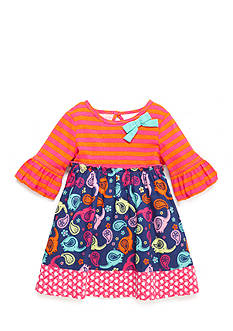 Nursery Rhyme Mixed Print Dress