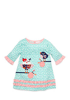 Nursery Rhyme Ruffle Owl Dress Infant/Baby Girls
