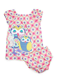 Nursery Rhyme 2-Piece Print Dress and Bloomer Set