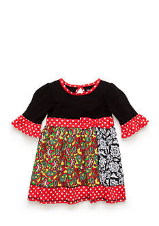 Nursery Rhyme Patterned Patchwork Dress