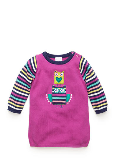 Nursery Rhyme® Striped Owl Sweater Dress