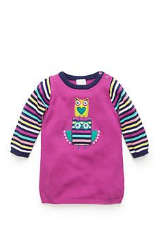Nursery Rhyme Striped Owl Sweater Dress