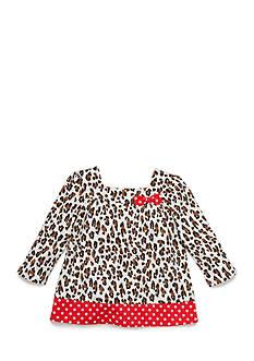 Nursery Rhyme Animal Print and Polka Dot Top Infant/Baby Girls