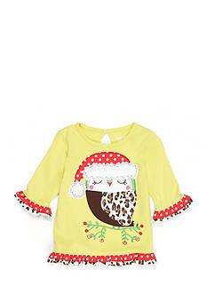 Nursery Rhyme Ruffle Hem Owl Shirt Baby/Infant Girl